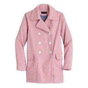 J. Crew pink Cotton Twill Coat